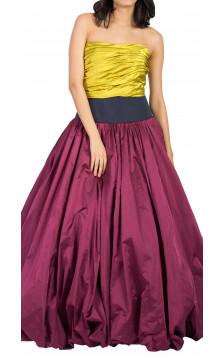 Oscar De La Renta Strapless Two-Tone Gown