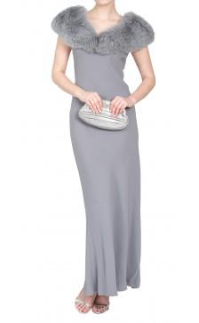 Paola Antonini Fur-Trimmed Dress