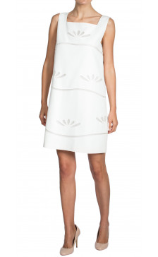 Philosophy Di Alberta Ferretti Silk Square Neck Dress
