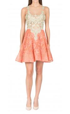 Rani Koli Two-Toned Lace Dress