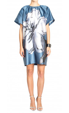 Rochas Flower Print Shift Dress