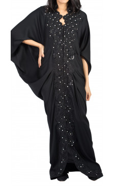 Rouge Couture Embellished Abaya