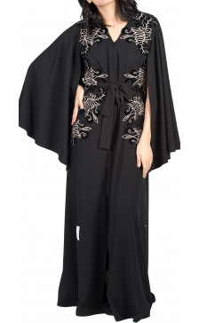 Rouge Couture Embroidered Abaya