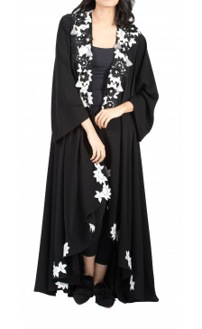 Rouge Couture Floral Lace Abaya