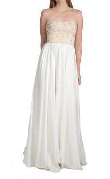 Sandra Mansour strapless beaded gown
