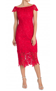 Shoshanna Ruffled Lace Dress