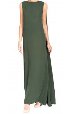 Valentino Sleeveless Draped Maxi