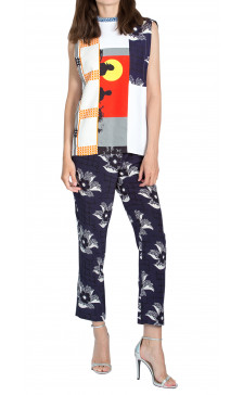 Victoria Beckham Printed Top & Trouser