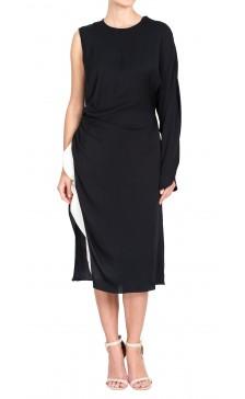 Vionnet Asymmetric Silk Dress