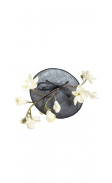 Vivienne Morgan Millinery Floral & Sinamay Saucer Hat