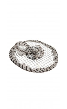 Vivienne Morgan Millinery Peekaboo Disk Hat