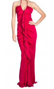 Yves Saint Laurent Ruffled Maxi Dress