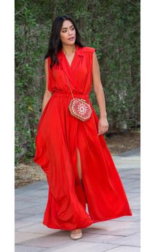 Yves Saint Laurent Sleeveless Draped Dress