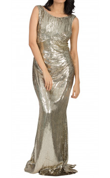 Zuhair Murad Sequined Sleeveless Gown