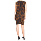 Alexander McQueen Leopard Cowl Neck Dress