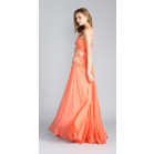 Zuhair Murad Asymmetric Floral Embellished Gown
