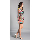 Balmain Long Sleeve V-Neck Short Dress