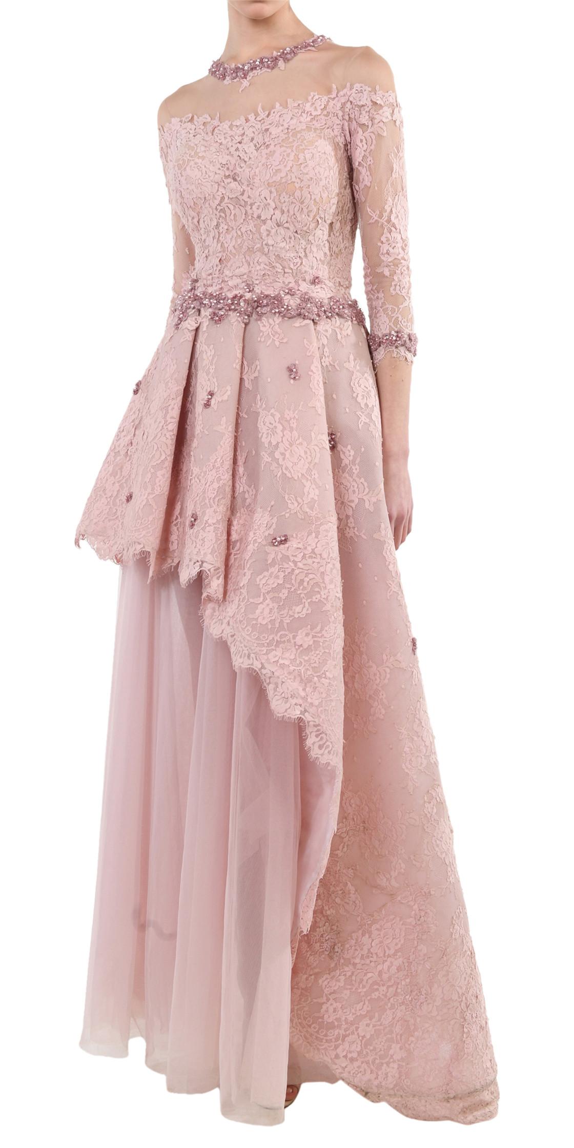 Fadwa Baalbaki Asymmetric A-line Gown | Designer Dress Rental ...