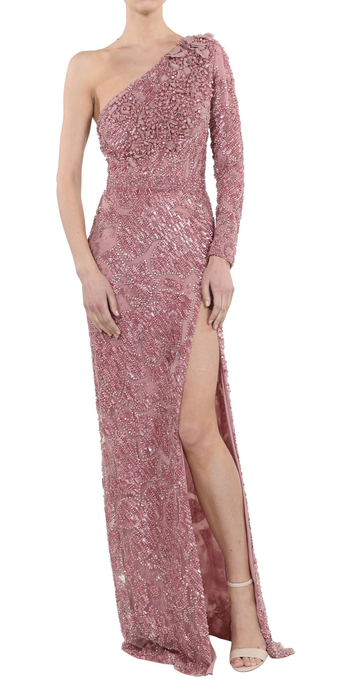 Elie Saab Embellished Asymmetric Gown | Evening Dress Rental ...
