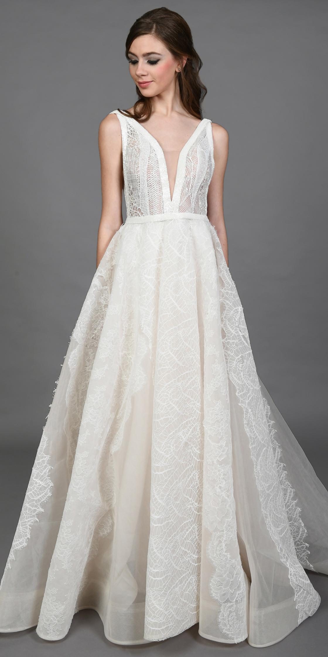 Esposa Couture Sleeveless Beaded Gown Wedding Dress Rental