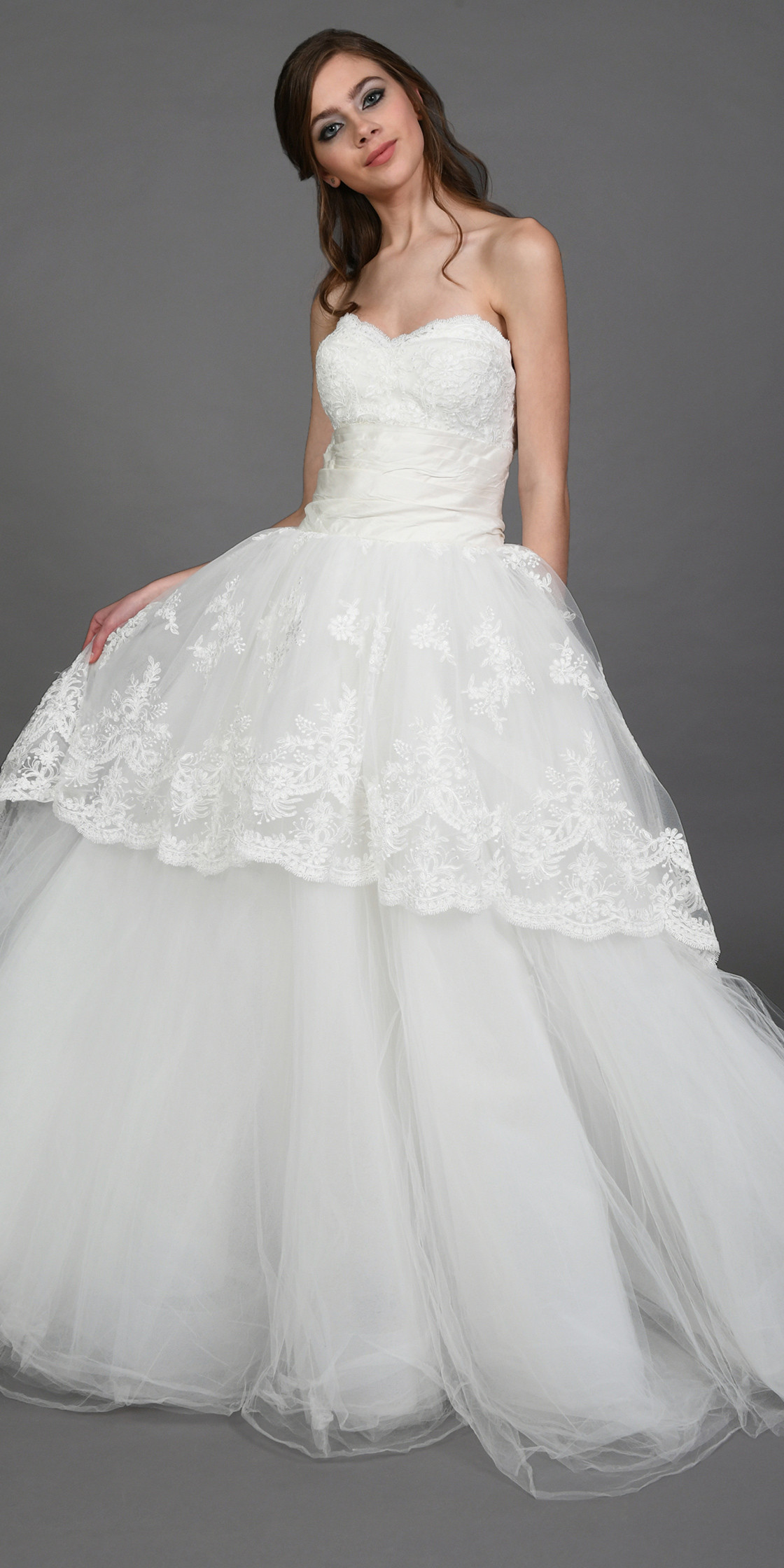 Marchesa Strapless Princess-Cut Gown | Wedding Dress Rental ...