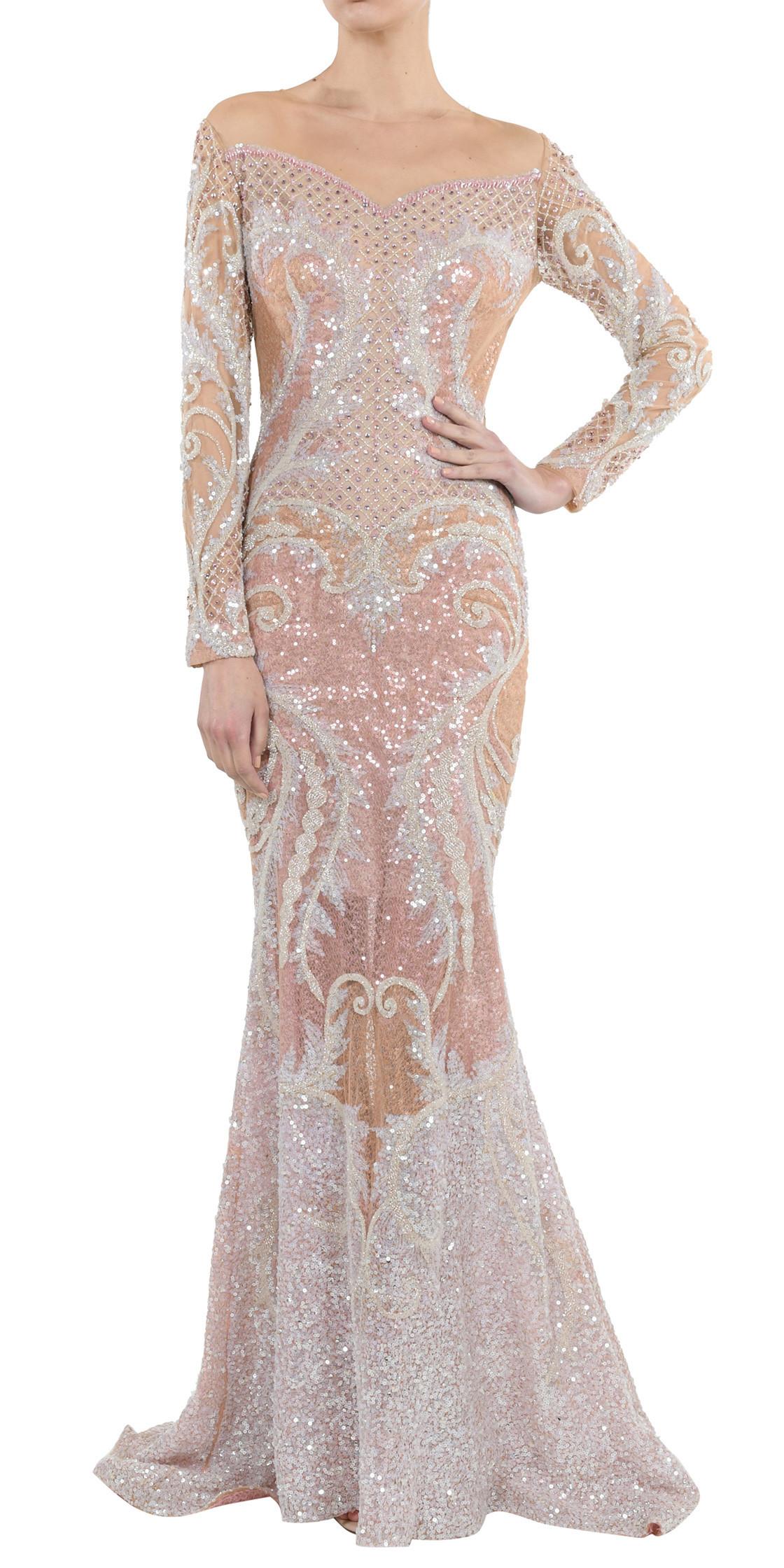 Nicolas Jebran Sequined Mermaid Gown | Evening Dress Rental ...