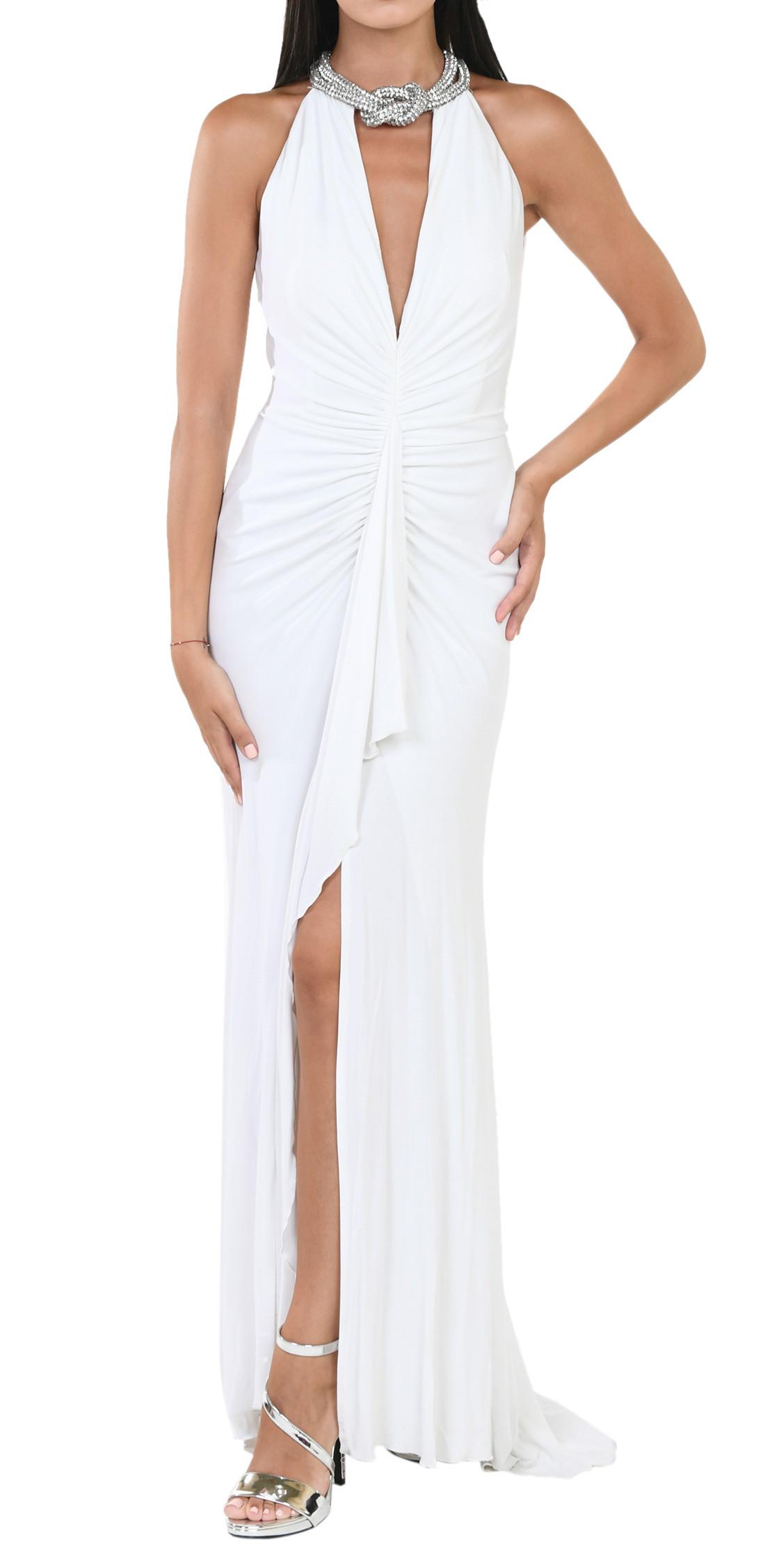 Nicole Bakti V-Neck Chocker Gown  afc0ab700