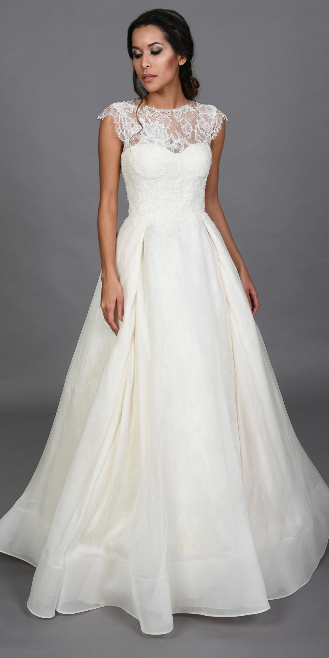 Rivini Organza Lace Gown Bridal Dress Rental Lebanon Rent A