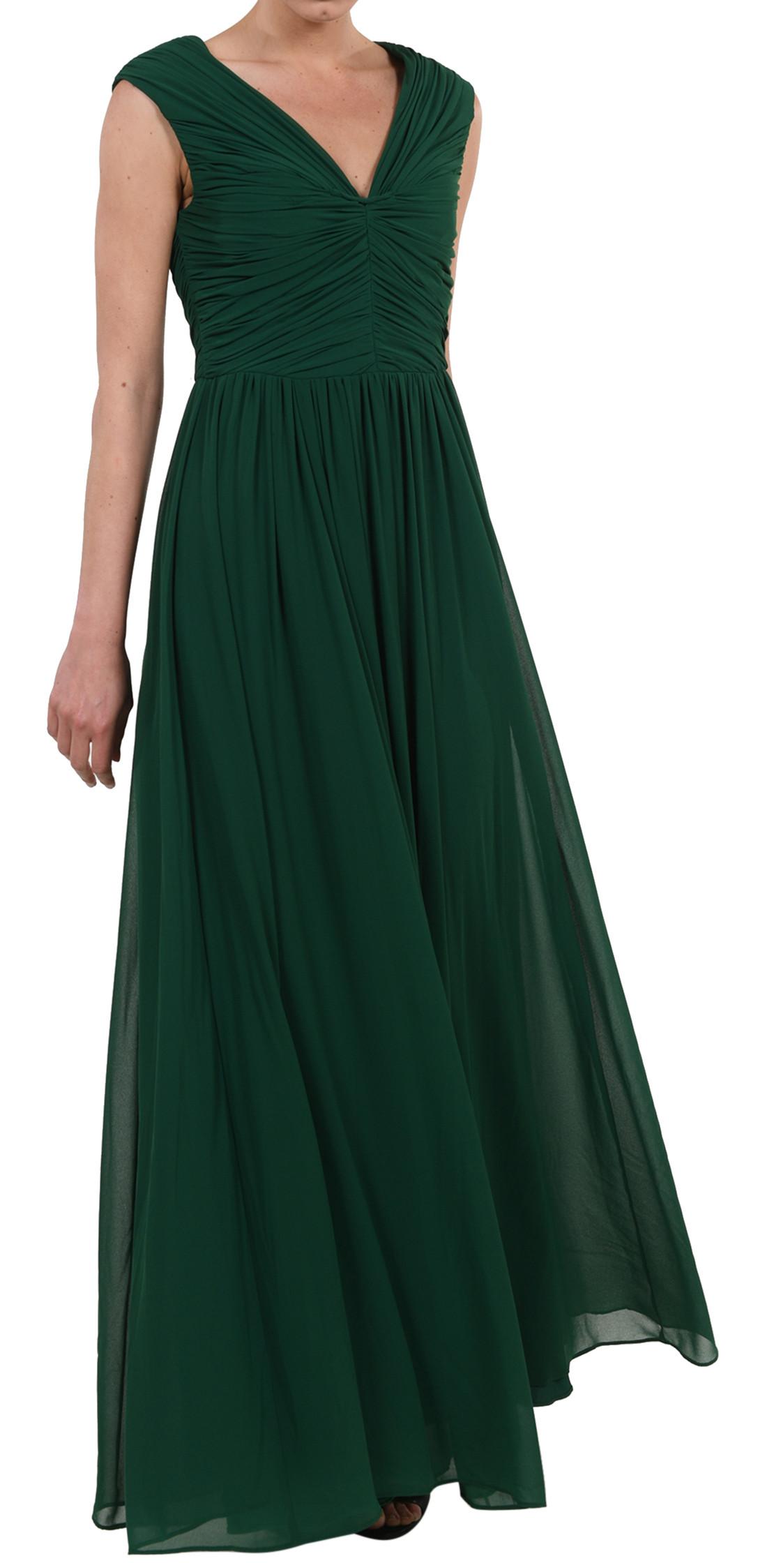 Vera Wang Sleeveless Silk Chiffon Gown Evening Dress Rental Lebanon Rent A Dress Designer 24 Com D24,Autumn Wedding Guest Dresses Uk