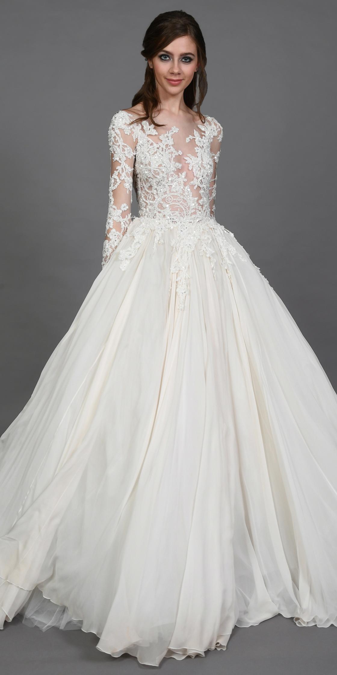 Zuhair Murad Lace Chiffon Gown Wedding Dress Rental Lebanon