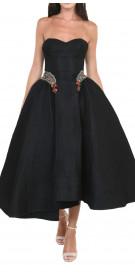 Abed Mahfouz Strapless Retro Dress