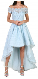 Aden Lace High-Low Gown