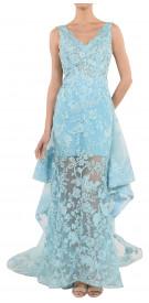 Aden Sheer Ruffled Gown