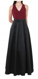 Aqua Dresses Two-Tone Gown