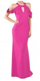 Badgley Mischka Could-Shoulder Gown