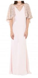 Badgley Mischka Sequin Cape Gown