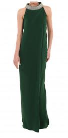 Custom Embellished Halter Gown