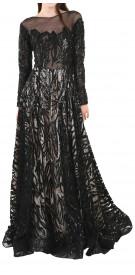Custom Long Sleeve Ball Gown