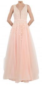 Custom Sleeveless Tulle Gown