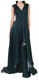 Dina JSR Sleeveless High-Low Gown