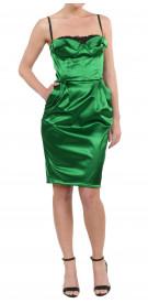 Dolce & Gabbana Silk Bustier Dress