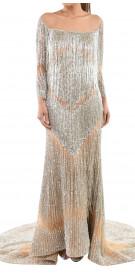 Walid Shehab Fringe Gown