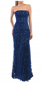 Elie Saab Embroidered Strapless Gown