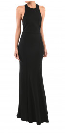 Practus Backless Crepe Gown