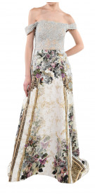 Hussein Bazazza French-Printed Gown