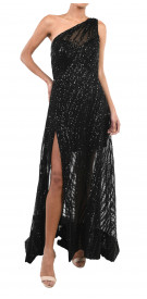 Reem Kachmar Asymmetric Split Gown
