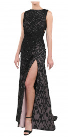 Elie Awad Sleeveless Embellished Gown