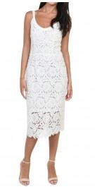 Ermanno Scervino Sleeveless Midi Dress