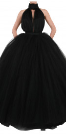 Fadel Jaber Halter Neck Tulle Gown