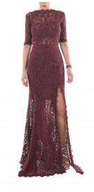 Femme D'armes Long Sleeve Lace Gown